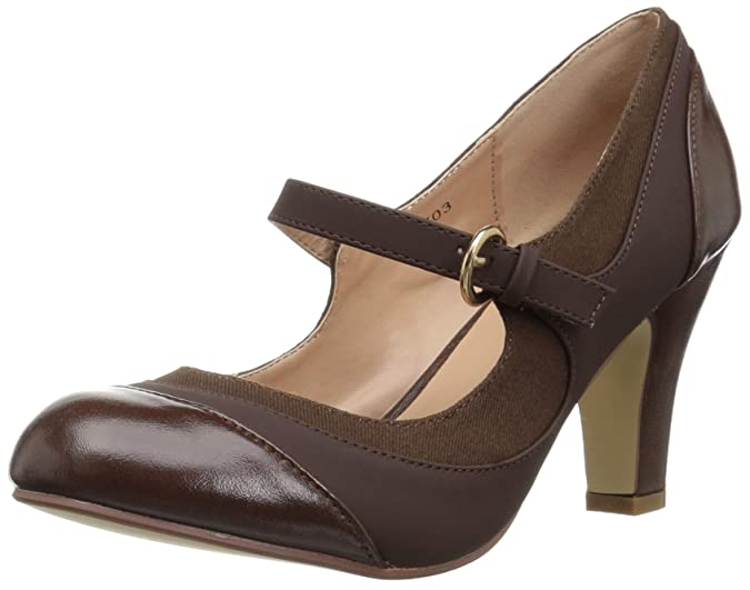 1920s Fashion & Clothing | Roaring 20s Attire Brinley Co Womens Sonja Pump $26.71 AT vintagedancer.com