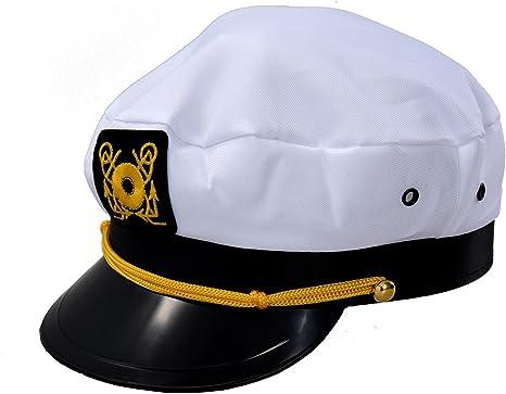 SODIAL(R) Gorra de Marino Marinera Capitan Uniforme Algodon Color ...