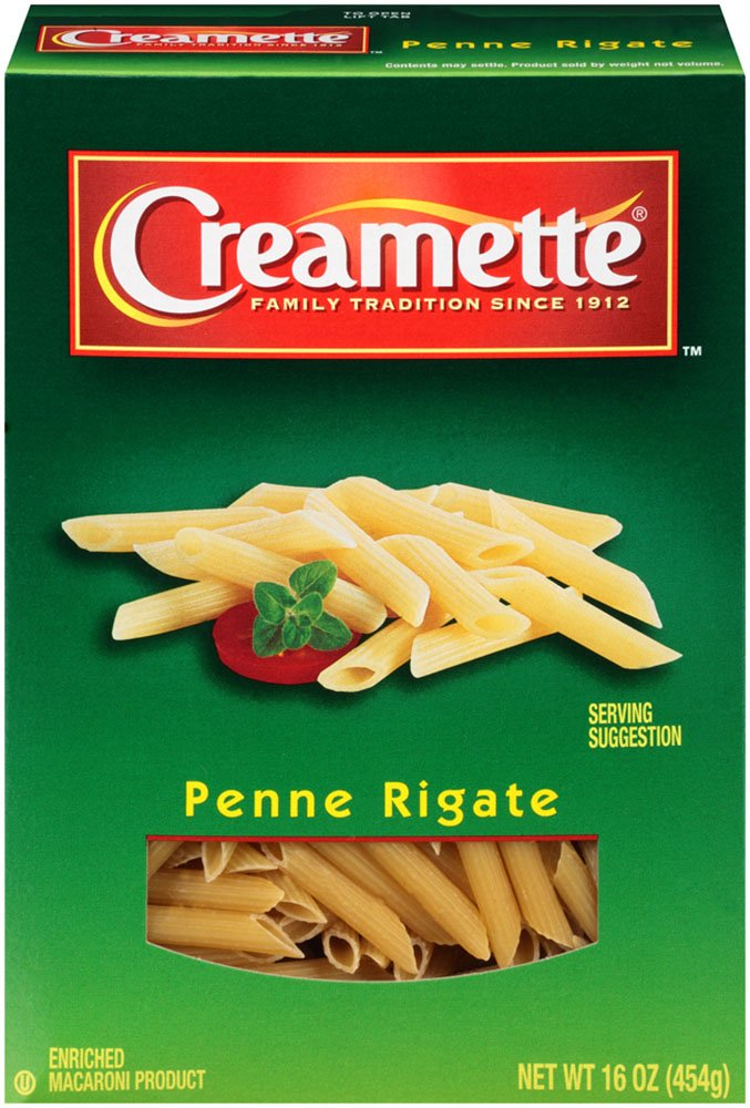 Creamette Penne Rigate, 16-Ounce (Pack of 12)