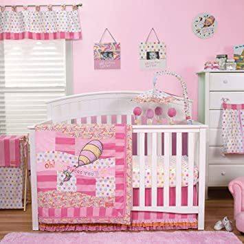 Bon Trend Lab Baby Girl Nursery Room Dr. Seuss Pink Oh, The Places Youu0027