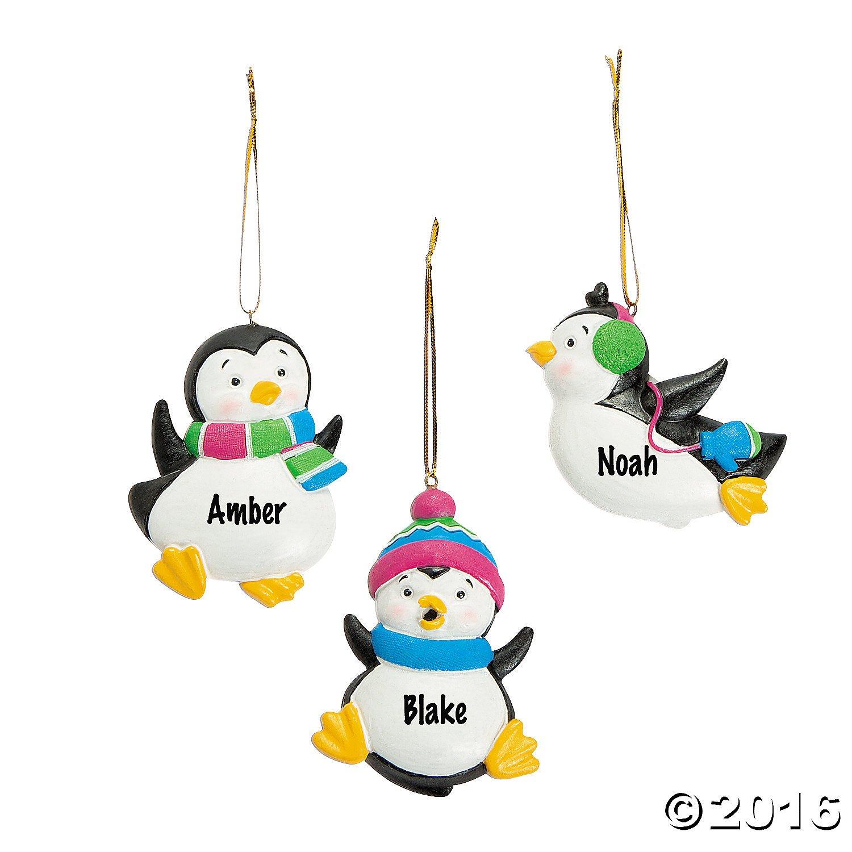 Amazon.com: Resin Penguin Ornaments Christmas Holidays (12 pcs ...