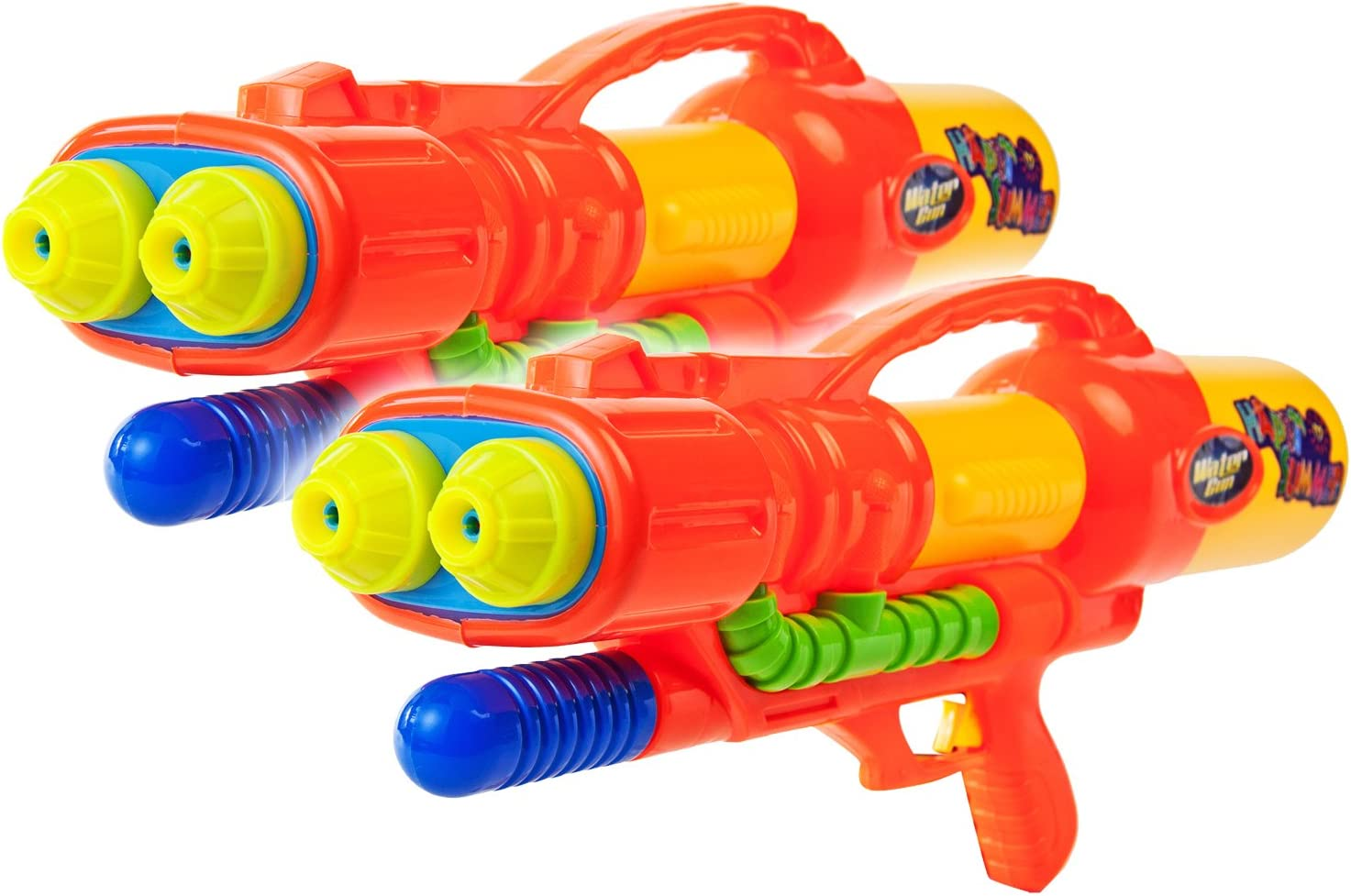 2x Space Wasser-Pistole Kinder-Spielzeug 60cm Schwarz Gr/ün Rot Lila Wasser-Spritze Sommer-Spielzeug Spielzeug-Pistole Wasser-Gewehr Aqua-Gun Pool-Kanone Planschbecken-Pistole Garten-Party Spielzeug-Waffe Swimming-Pool-Gun