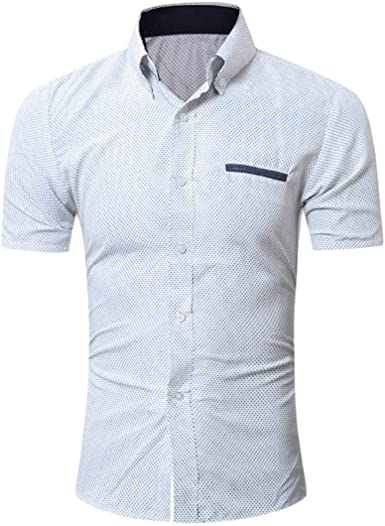 Hombre Camisa Polo De Manga Casual De Chic Friends Manga Corta Business Slim Office Blusa Polo Camisa Tops Camisas De Verano: Amazon.es: Ropa y accesorios