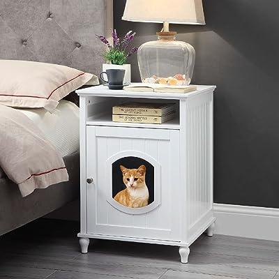 unipaws Designer Cat Washroom Storage Bench