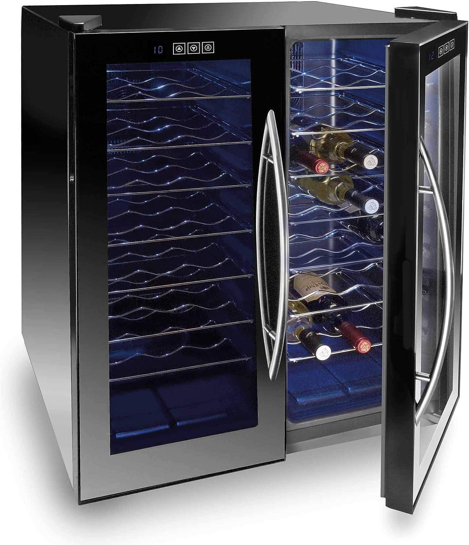 Lacor - 69185 - Armario refrigerador 18 Botellas Black Line 100w ...