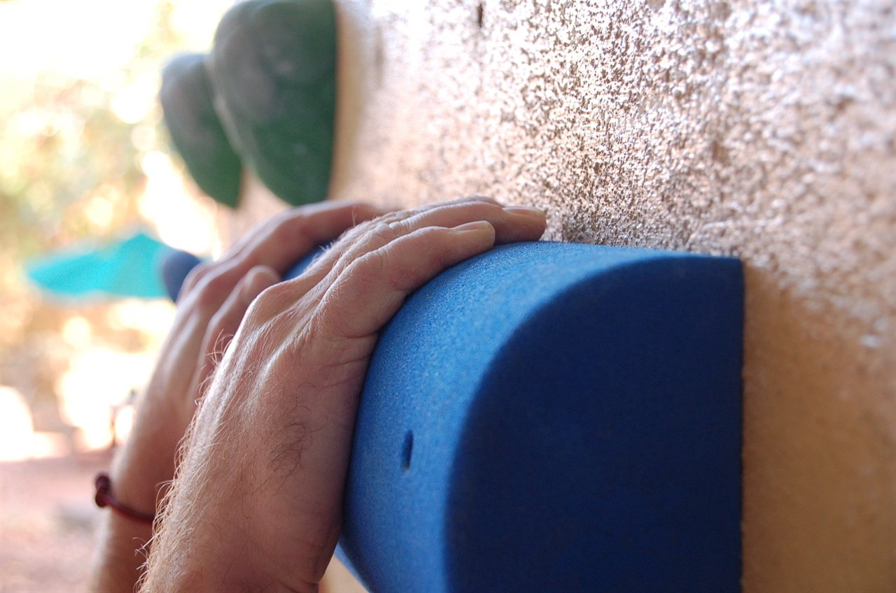 The Half Pipe (24'' Screw-On Campus Sloper Rung)| Climbing Holds | Blue