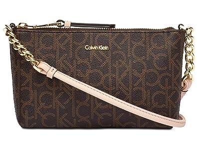 012ecc5ec Amazon.com: Calvin Klein Hayden Signature Chain Strap Crossbody Bag Handbag:  Shoes