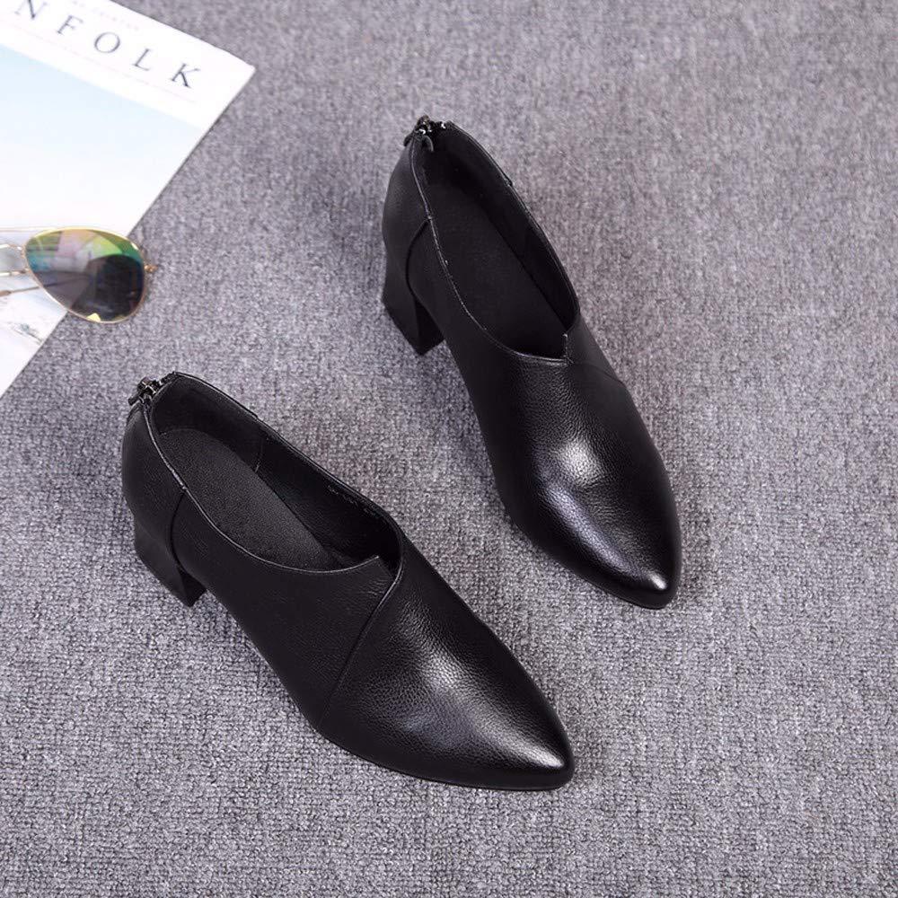 KOKQSX-meine KOKQSX-meine KOKQSX-meine Schuhe witze Spitze echtem Leder Casual Lederschuhe einzelne Schuhe. 9f0dd6