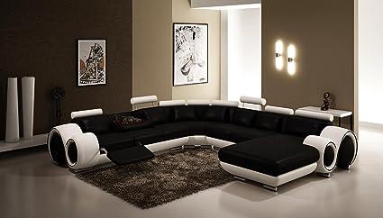 Amazon Com Contemporary Italian Design Black White Franco Modern