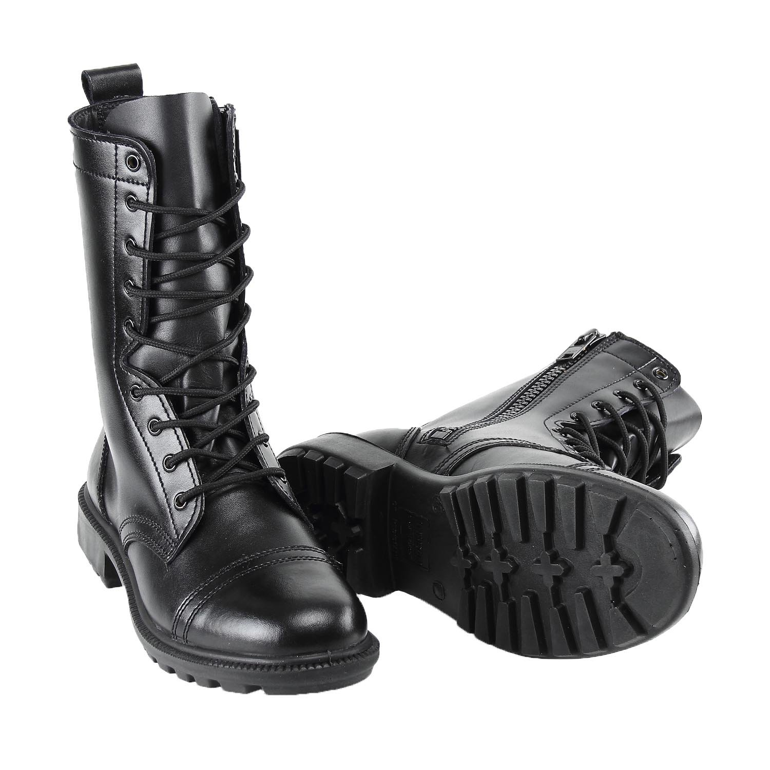 BURGAN 802 Combat Jump Boot (Unisex) - All Leather with Side Zip B075Q4S845 38 (US Mens 6.5 / Ladies 7.5)