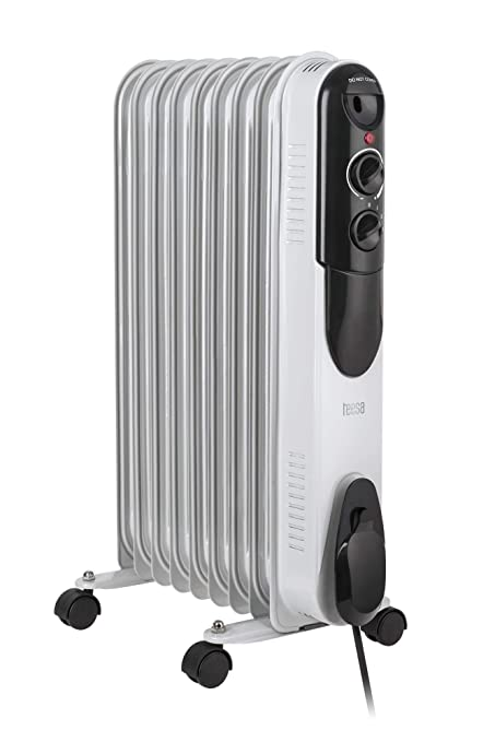 Tessa tsa8030 Teesa Radiador mobile 2000 W de calefacción eléctrica, termostato, protección contra sobrecalentamiento