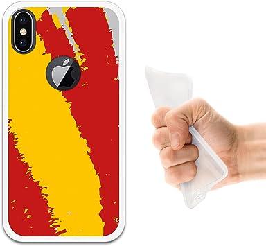 WoowCase Funda iPhone X, [iPhone X ] Funda Silicona Gel Flexible Bandera España, Carcasa Case TPU Silicona: Amazon.es: Electrónica