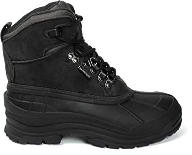 Men's Winter Snow Boots Shoes Waterproof Insulated Lace UP (DM) 103 BLACK-11