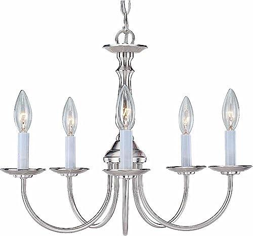 Volume Lighting V4515-33 5-Light Chandelier, Brushed Nickel