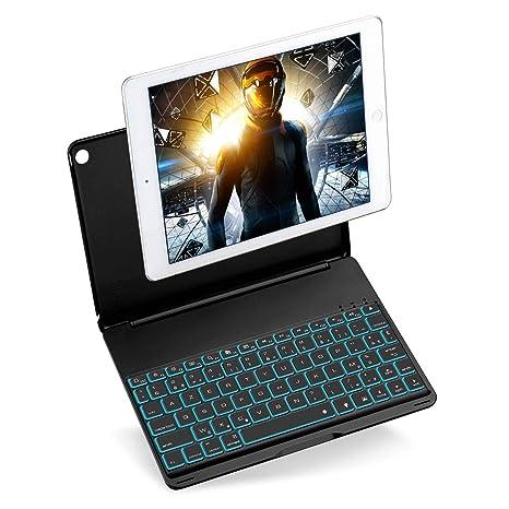iEGrow Funda de Teclado iPad Air, Funda iPad Teclado para 2017 Nuevo iPad, iPad
