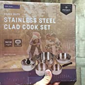 Amazon Com Stansport Heavy Duty 7 Piece Stainless Steel