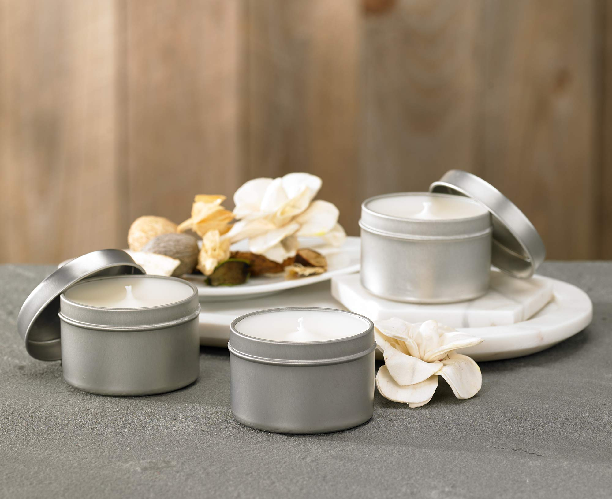 Westin White Tea Candle in a Tin - Hand-Poured, Soy Candle in Tin - Signature White Tea Scent - 4 oz. - Set of 3 by Westin