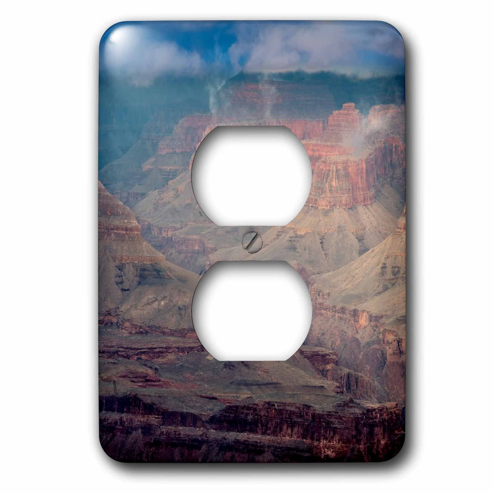 3dRose Danita Delimont - Arizona - USA, Arizona, Grand Canyon National Park. Overview of canyon. - Light Switch Covers - 2 plug outlet cover (lsp_278444_6)