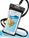 【強化版 】DesertWest 防水ケース スマホ用 防水携帯ケース IPX8認定 iPhone X/iPhone8 plus/iPhone 7plus/Phone6 6s Plus Android 6インチ以下全機種対応 水中撮影 海水浴 お風呂 潜水 温泉など適用