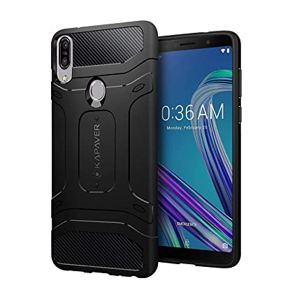 on sale 57fec 7ffd7 KAPAVER® Asus Max Pro M1 Rugged Back Cover Case MIL-STD 810G Officially  Drop Tested Solid Black Shock Proof Slim Armor Patent Design (Only for Asus  ...