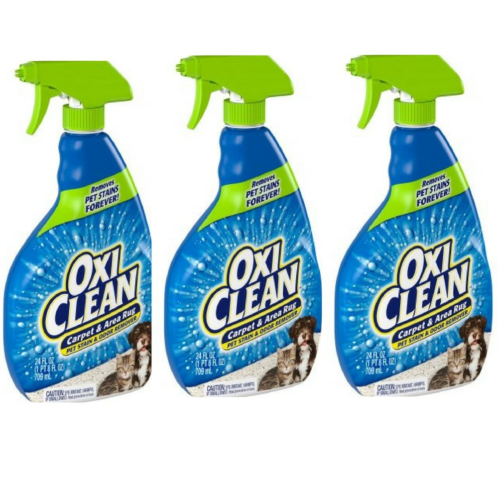 Oxiclean 24 Oz Carpet And Area Rug Pet Stain And Odor Remover 24 Oz 3pack