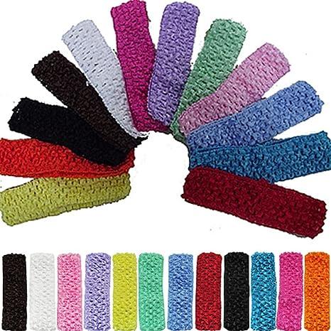 Buy 12pcs 15quot Elastic Crochet Headbands Hair Bands Kid Baby