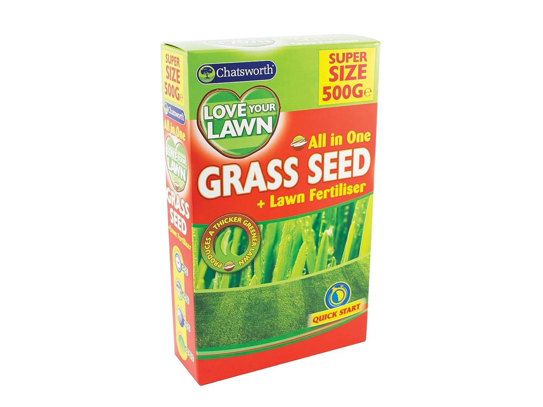Chatsworth All In One Grass Lawn Seed & Fertiliser 500g 151