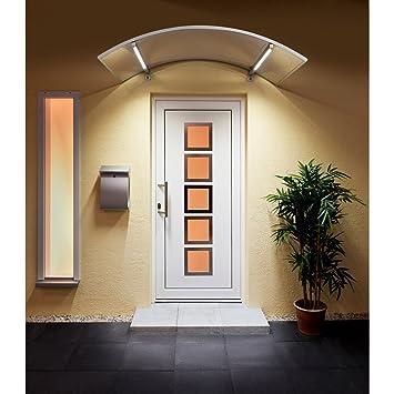 Vordach Beleuchtung Led | Dusar Haustur Vordach Bogenvordach Bv Led Technik 150x90x22 Cm