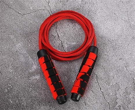 LBKKBL Cuerda de algodón para Saltar, Hombres y Mujeres de Fitness ...