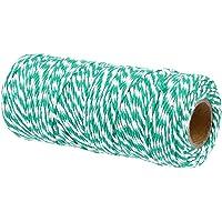 Tomaibaby 1 Rol 100M Kersttouw Katoen Cadeau Tag String Cadeauverpakking Koord String Voor Kunst en Ambacht…