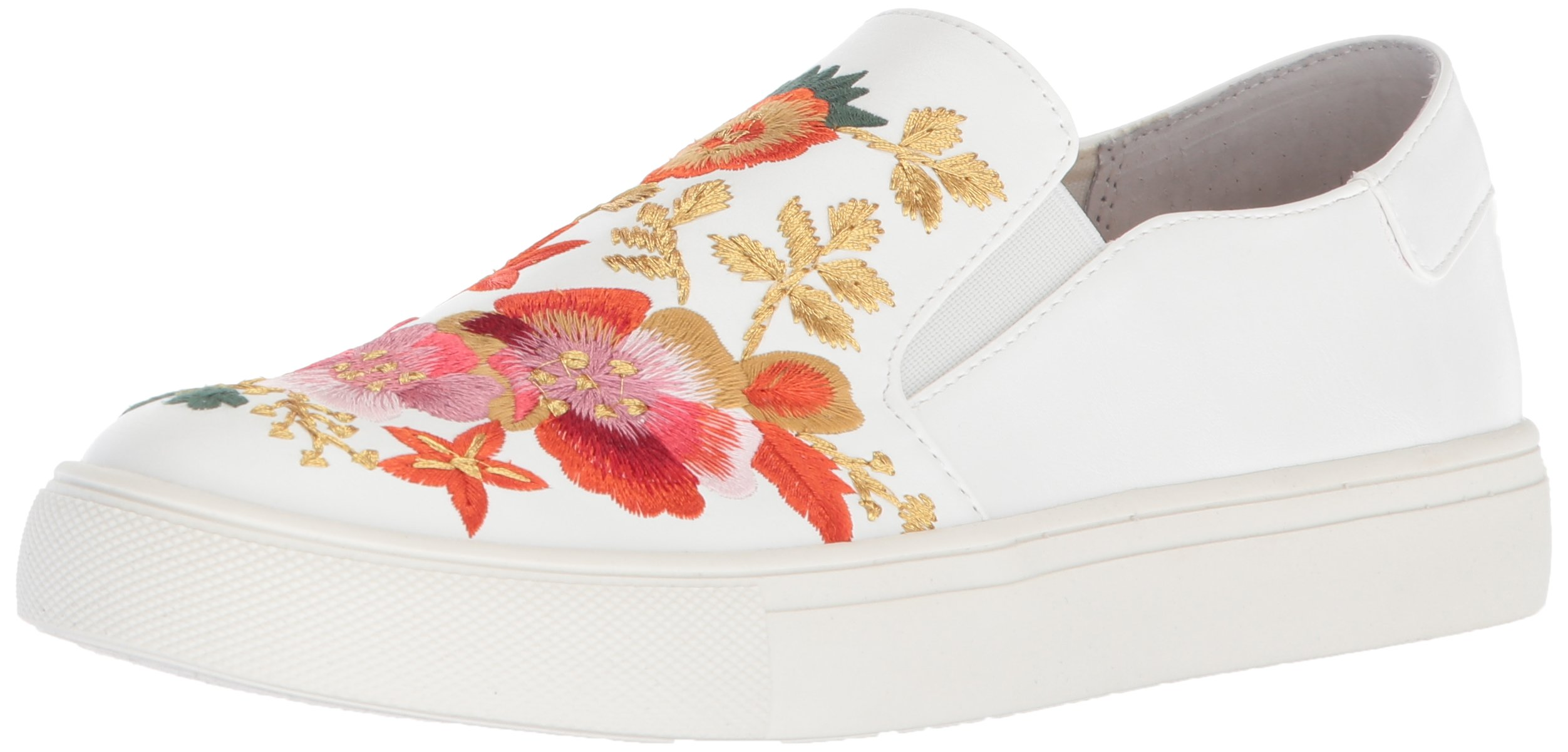 Nanette Lepore Women's Whimsical Sneaker, White Embroidery, 8.5 M US