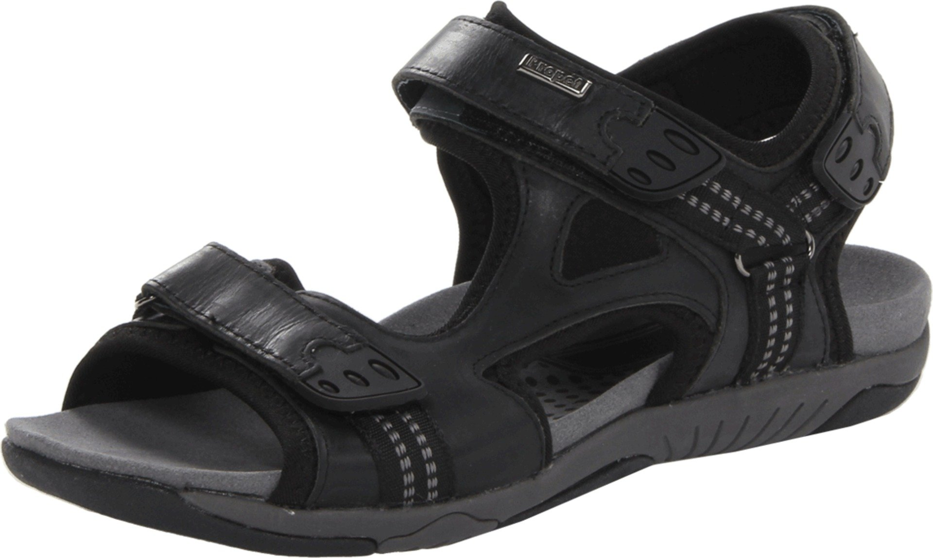 Propet Men's Anderson Sandal,Black/Grey,14 M US