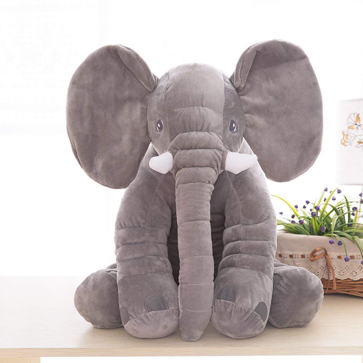 7f2dce897ba6f Tivolii Simulación Linda Elefante Gigante de Peluche de Juguete de Felpa  Almohada con Manta de Regalos