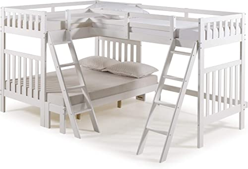 Alaterre Furniture Aurora Twin Over Full Wood Bed