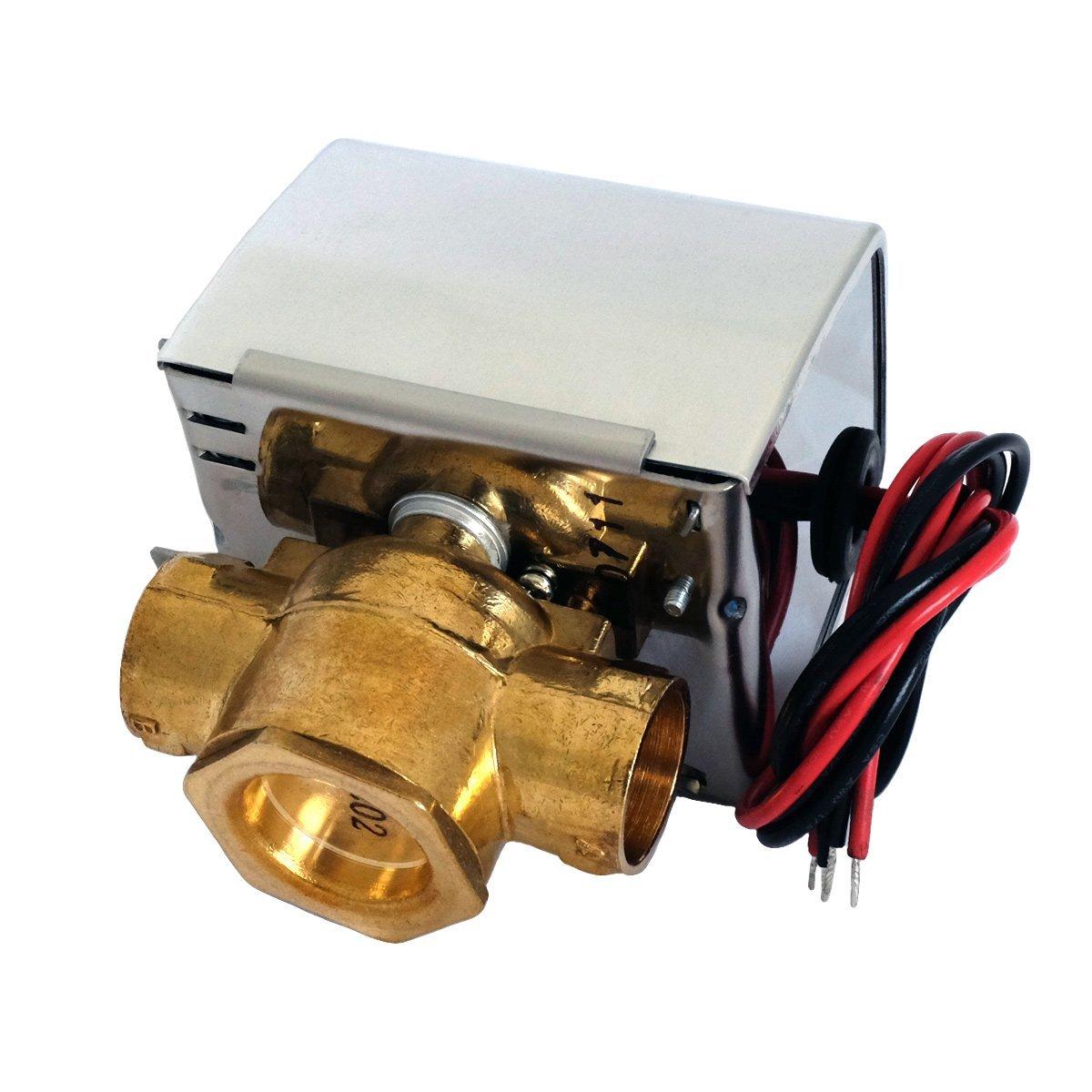Valemo V2313-A1S Motorized Zone Valve, 2-way 3/4'', Sweat, 24 VAC with End Switch by Valemo Controls (Image #3)