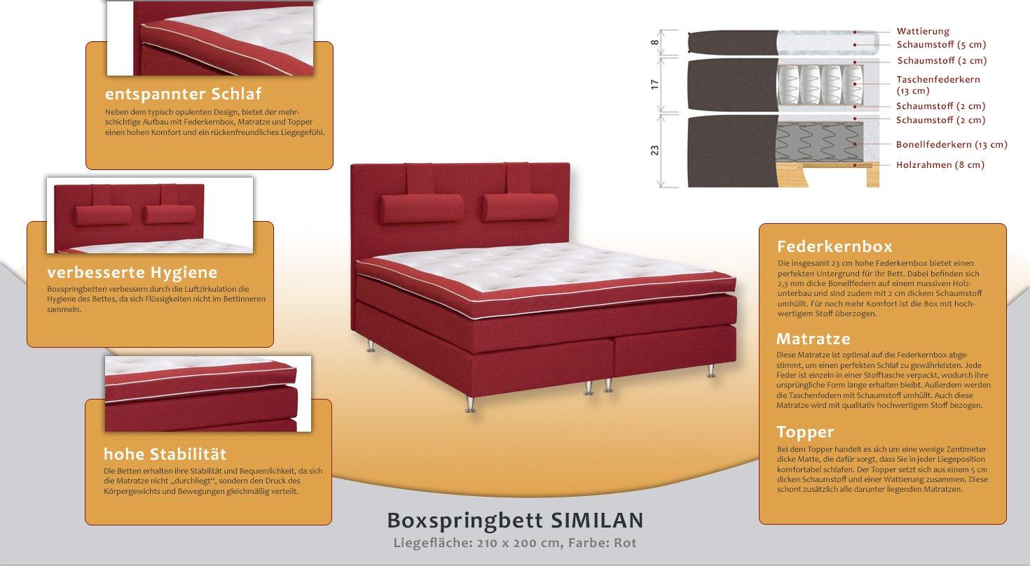 Cama con somier cama 210 x 200 cm rojo: Amazon.es: Bricolaje y herramientas