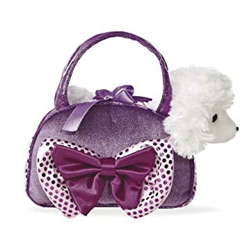 451b33e6c2ee Aurora World 8-inch Fancy Pal Poodle with Bow (Purple)