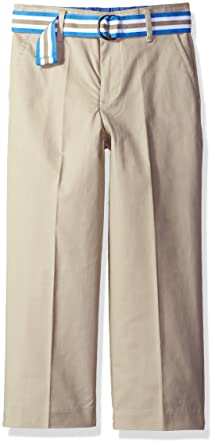 Youth Boy/'s Tommy Hilfiger Flat Front Twill Dress Pants Khaki