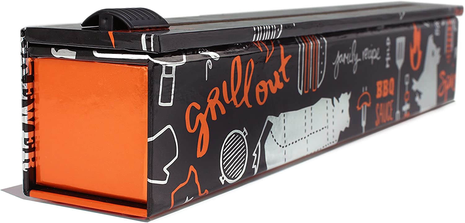 ChicWrap BBQ Grill Foil Dispenser with 12