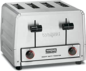 Waring Commercial WCT805B Heavy Duty Stainless Steel 208-volt Toaster with 4 Slots