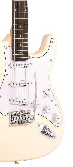 Encore E6 - Guitarra eléctrica, color vintage blanco: Amazon.es: Instrumentos musicales