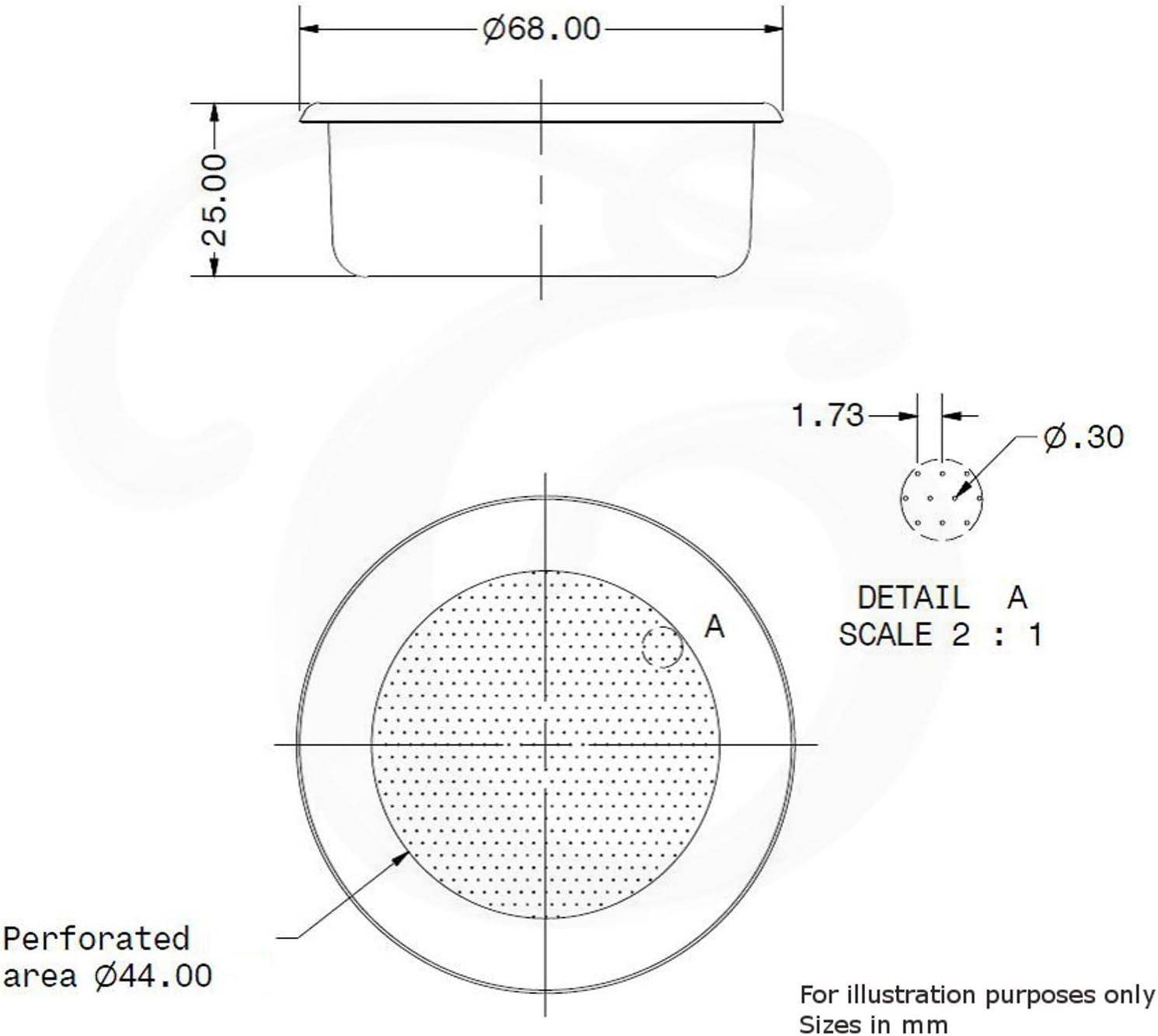 Filtro di ricambio per portafiltro LA PAVONI MACCHINE COMMERCIALI EDESIA ESPRESS 14g espresso doppio