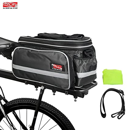 Arltb Bike Rear Bag (3 Colors) 15-25L Waterproof Bicycle Trunk Bag with  Rain Cover Shoulder Strap Bike Pannier Tail Back Seat Bag Package Handbag  Bike ... b6b791948fcf