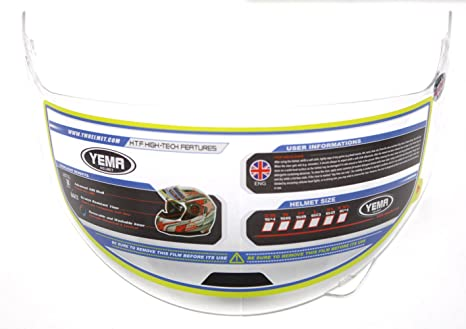 YEMA Helmet Visor Face Shield for YM-925, Clear Visor with Pinlock