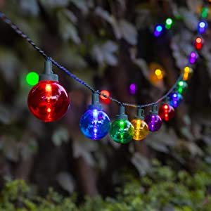 ZHONGXIN 50 LED Multi Colored Christmas Lights, G40 Globe LED String Lights, UL Listed Fairy Lights for Indoor/Outdoor, Perfect for Holiday Festival Wedding Party Bedroom Patio Décor