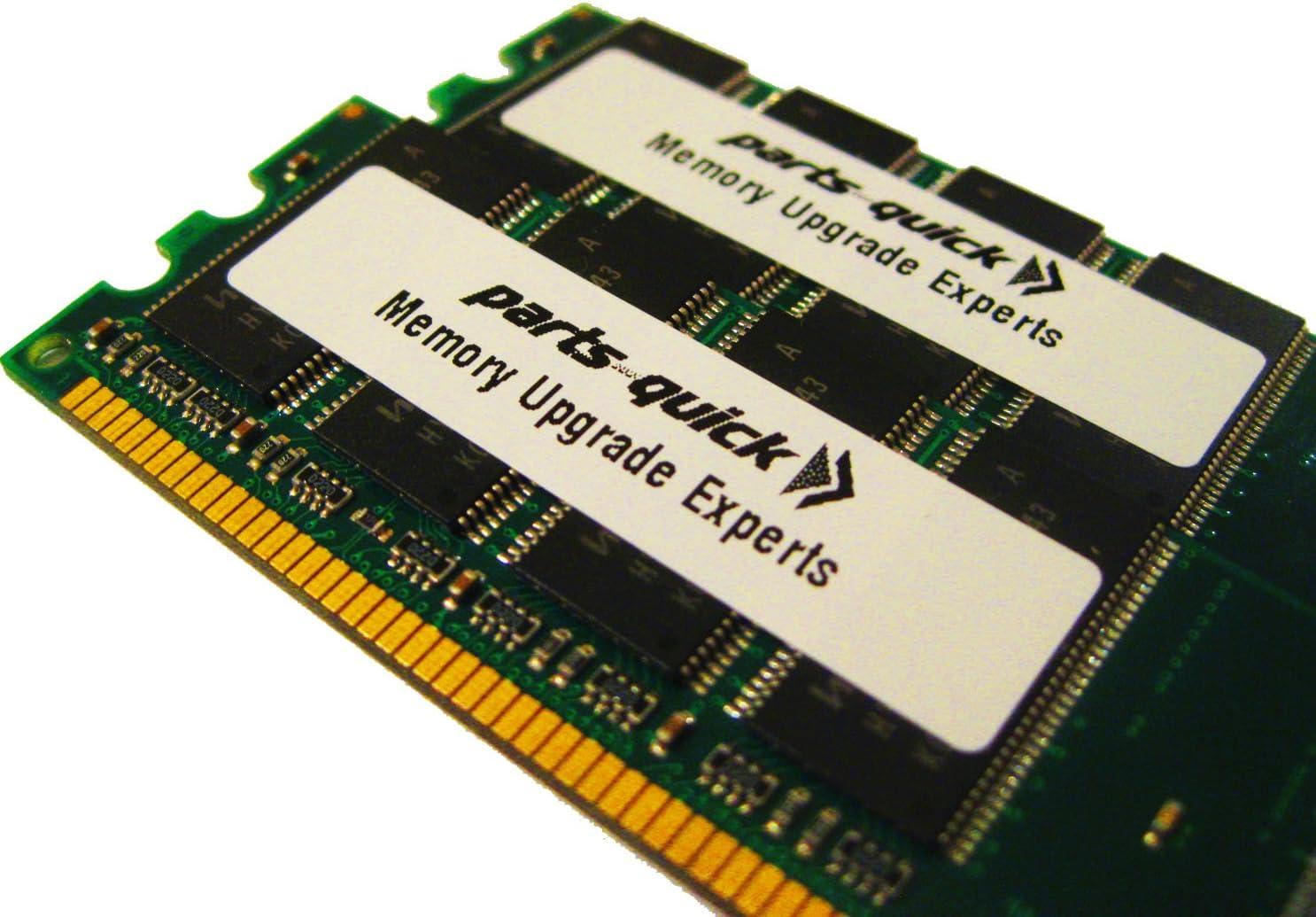2GB KIT (1GB X 2) Memory Upgrade for Dell Inspiron 640m DDR2 PC2-5300 200 pin 667MHz SO-DIMM NON-ECC (PARTS-QUICK BRAND)