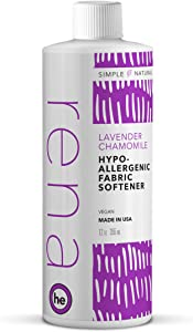 Rena Hypoallergenic Fabric Softener – Plant-Based Ingredients, Zero Toxic Chemicals – 12 Ounce (Lavender Chamomile)