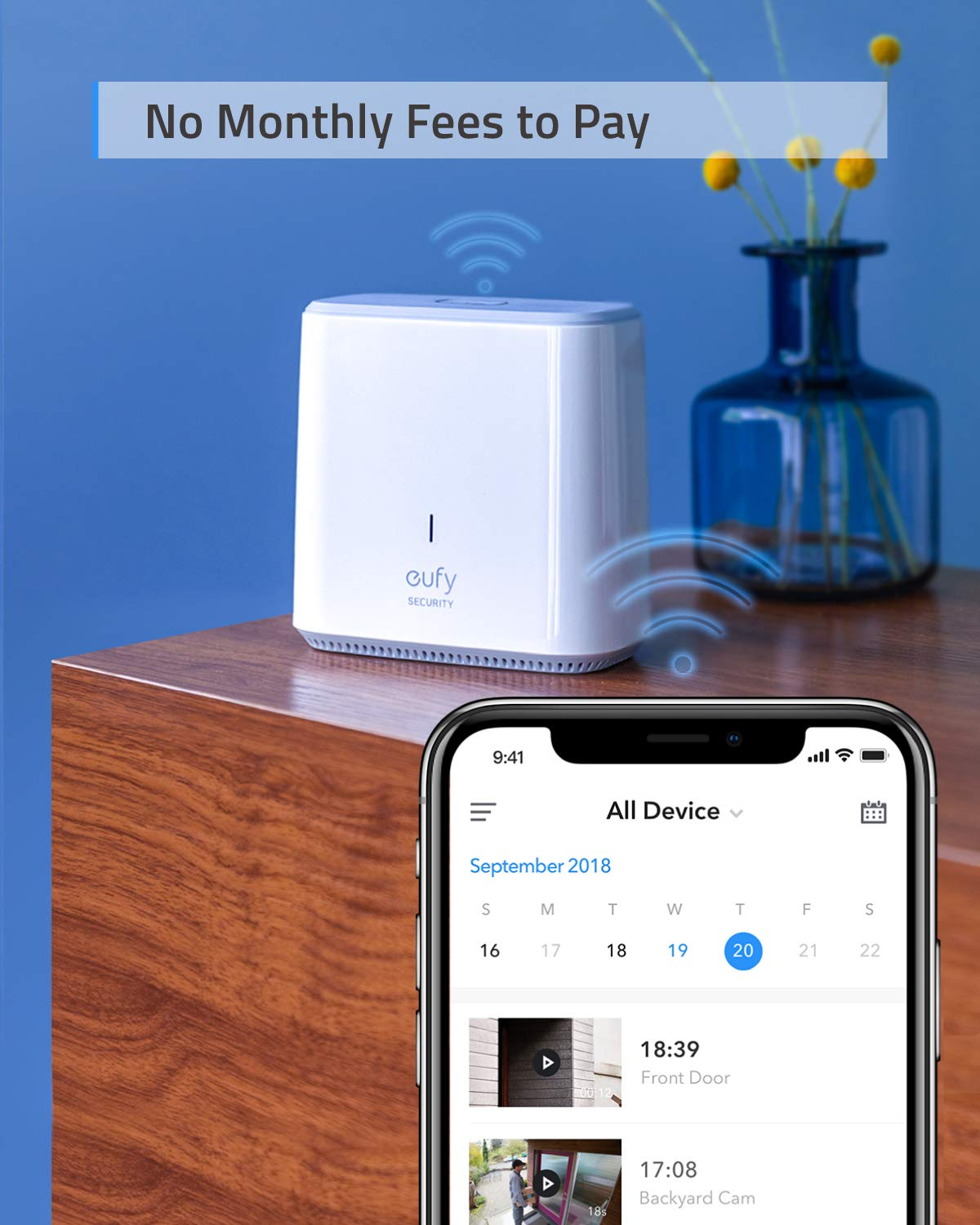 Wireless Home Security Camera System, eufy Security eufyCam E 365-Day Battery Life, 1080p HD, IP65 Weatherproof, Night Vision, Compatible with Amazon Alexa, 2-Cam Kit, No Monthly Fee by Eufy (Image #5)