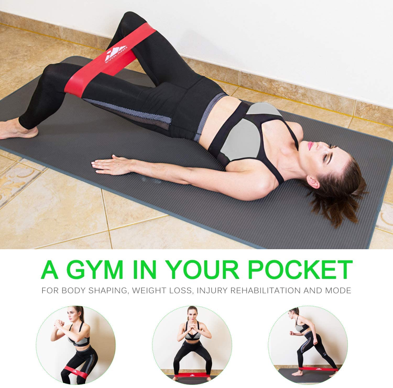 5X Yoga Set Pilates Ring Yoga Baumwollband Resistance Loop Band Widerstandsband