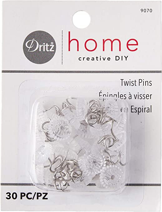 /& Bed Covers Dritz 10 pk Twist Pins Arm Covers Secures Furniture Slipcovers